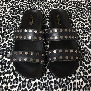 NINE WEST studded sandals